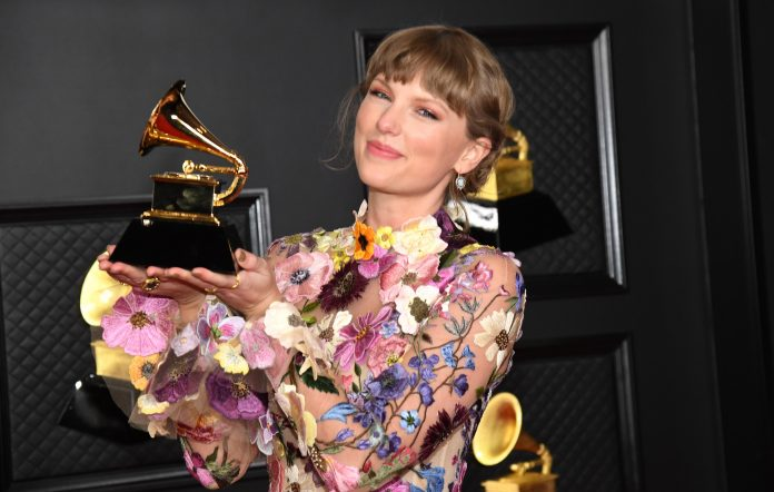 Taylor Swift wins Album Of The Year for 'folklore' at the 2021 Grammys