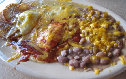 Huevos Rancheros, the specialty of the house.