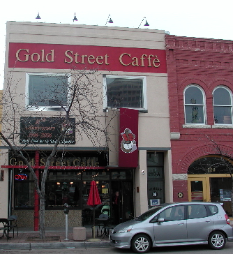 The Gold Street Caffe, one of the true downtown revitalization success stories.