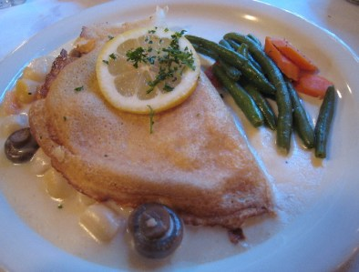 Crepe Aux Fruits de Mer--the fruits of the sea in a crepe.