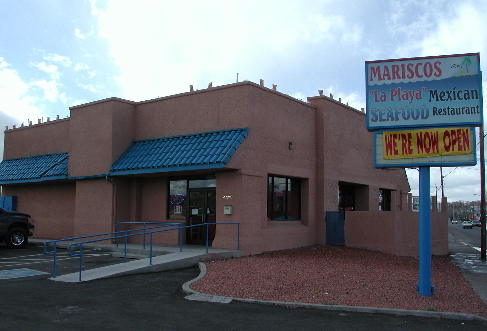 Mariscos La Playa, an outstanding Mexican seafood restaurant on Central Avenue just west of the Rio Grande.