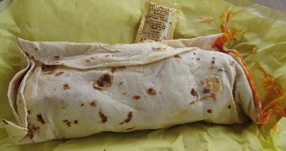 Carne adovada burrito
