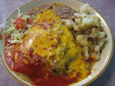 Carne adovada enchiladas