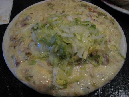 A Charlie's favorite--sour cream enchiladas.