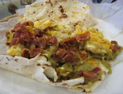 The breakfast burrito supreme.