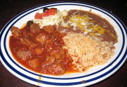 Carne adovada platter