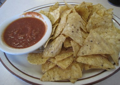 Chips and salsa at Mick's Chile Fix