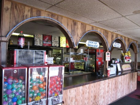 The 1960s ambience at Pizza Castle