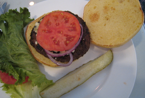 The black and bleu burger.