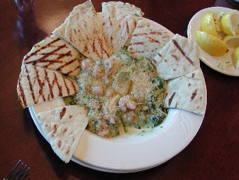 Seafood Spinach & Artichoke Dip-- Tender Shrimp & Bay Scallops, Cheese, Spinach, Artichoke, Broiled Until Bubbly.