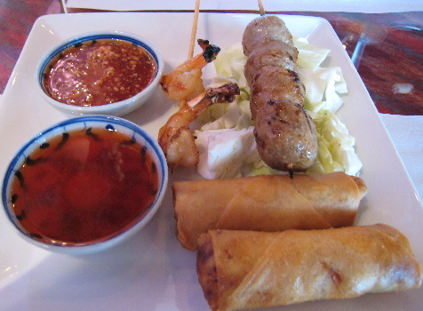 Combination appetizer plate