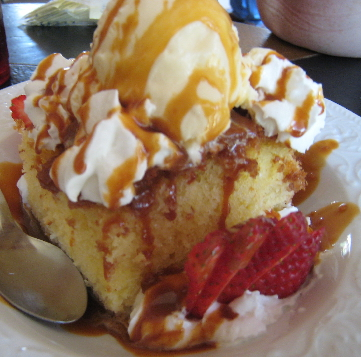 Tres Leches cake, one of the best we've had in New Mexico