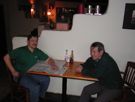 John (at left) and T.C. Perea, the genial braintrust of Perea's Tijuana Bar & Restaurant.