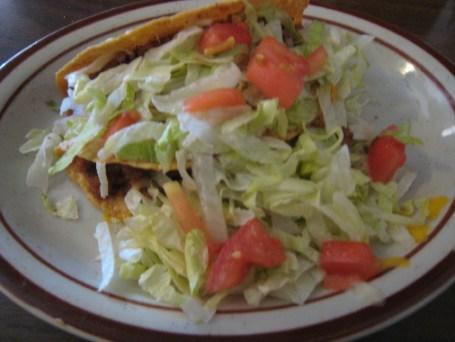 Two crisp tacos