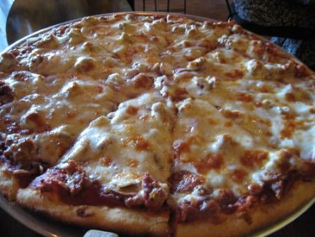 The Sicilian sausage pizza