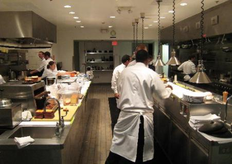 The kitchen at Bouchon