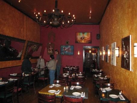 The interior at Destino Nuevo Latino Bistro