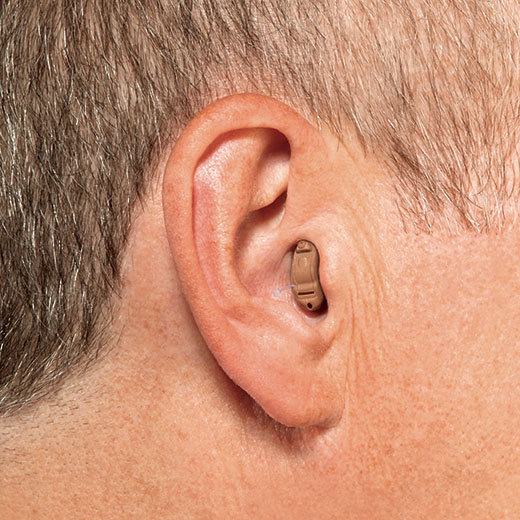 Completely in canal hearing aid