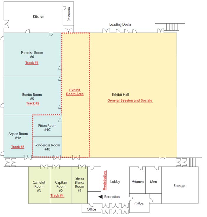 2016 NMIFC Center Map