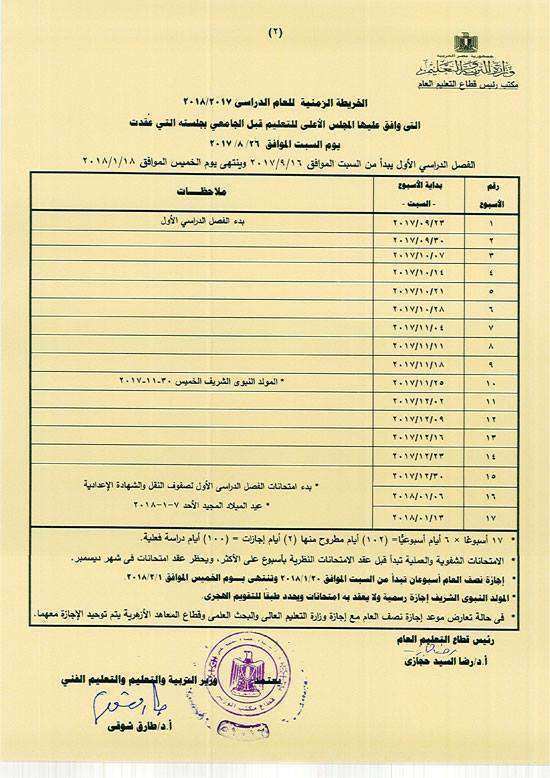 2 17 - نجوم مصرية - موعد امتحانات نصف العام 2017 وموعد أجازة نصف العام لجميع المراحل المختلفة ابتدائي وإعدادي وثانوي والتعليم الفني أيضا