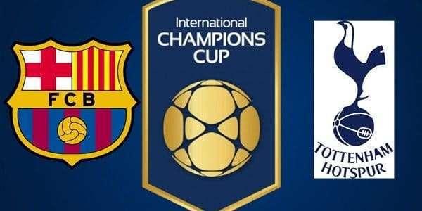 انتهاء مباراة برشلونة وتوتنهام بالتعادل الايجابي بين الفريقين