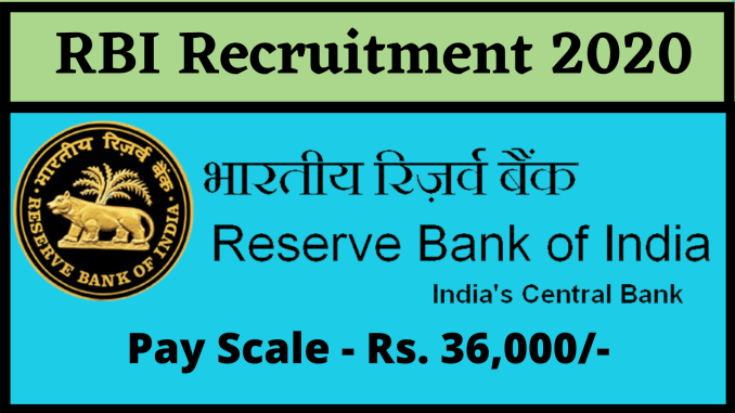Image result for Reserve Bank of India (RBI) Recruitment 2020 – 926 posts of Assistant