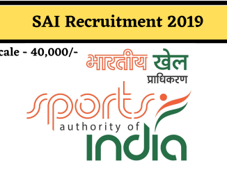 SAI RECRUITMENT 2019-20: LATEST SAI JOBS | SPORTS AUTHORITY OF INDIA RECRUITMENT
