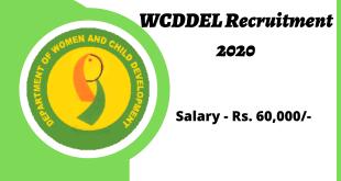WCDDEL Recruitment 2020