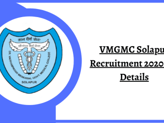 VMGMC Solapur Recruitment 2020