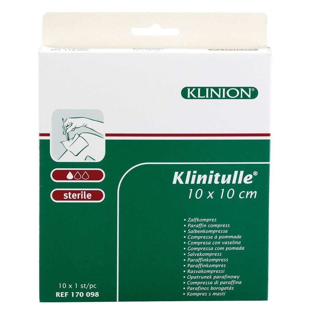 Pansements stériles paraffinés Klinitulle emballage