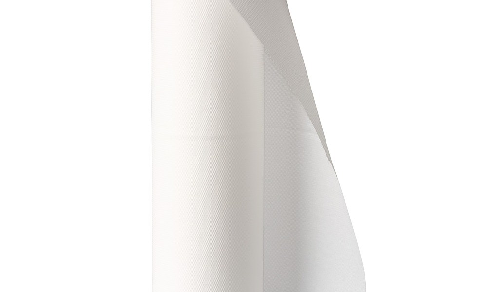 Drap blanc ouate gaufrée
