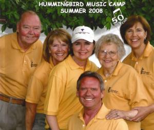 Old photo of Hummingbird Music Camp staff.