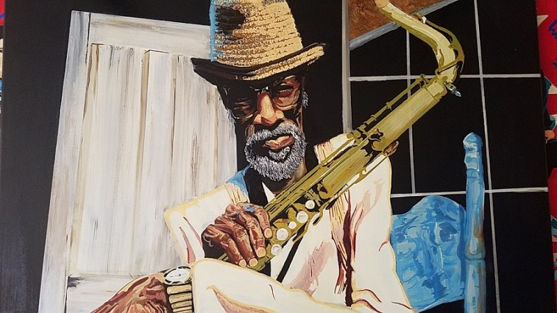 Painting Joe Henderson by Mark Ellington