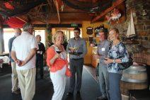 Volunteers Barbara, Mark and Jo enjoying the hospitality of Yaringa Marina Restaurant