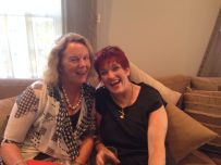 Volunteer Barbara and Mary from Recharge Rejuvenation, an NMPT member