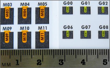 Large VI Alpha Tags are shown on the left in orange, Standard VI Alpha Tags are shown on the right in yellow