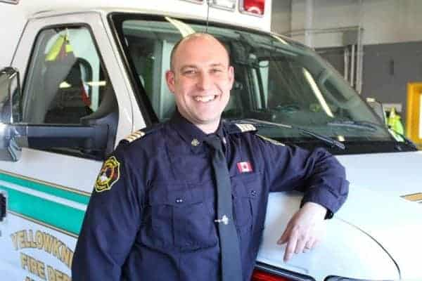 Darren Kuhn is Yellowknife's new deputy fire chief of life safety and fire prevention. - Kirsten Fenn/NNSL photo