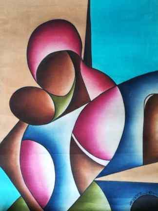 Title Coded Communication. Artist Nuwa Wamala Nnyanzi. Medium Batik. Code NWNWEB0492012