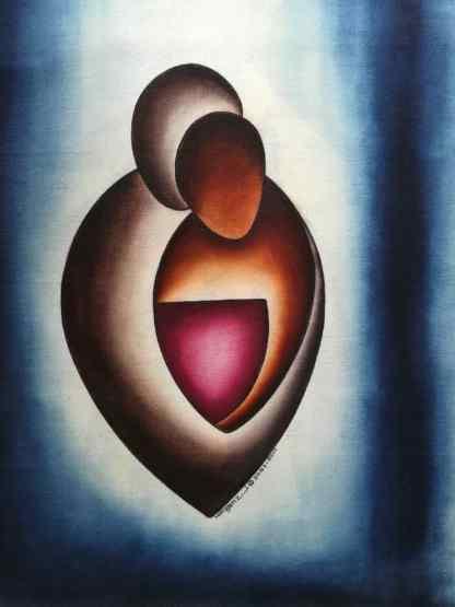 Title Partners In Love. Artist Nuwa Wamala Nnyanzi. Medium Batik. Code NWN0292011