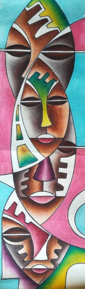 Title The Family Tree. Artist Nuwa Wamala Nnyanzi. Medium Batik. Code 001762015