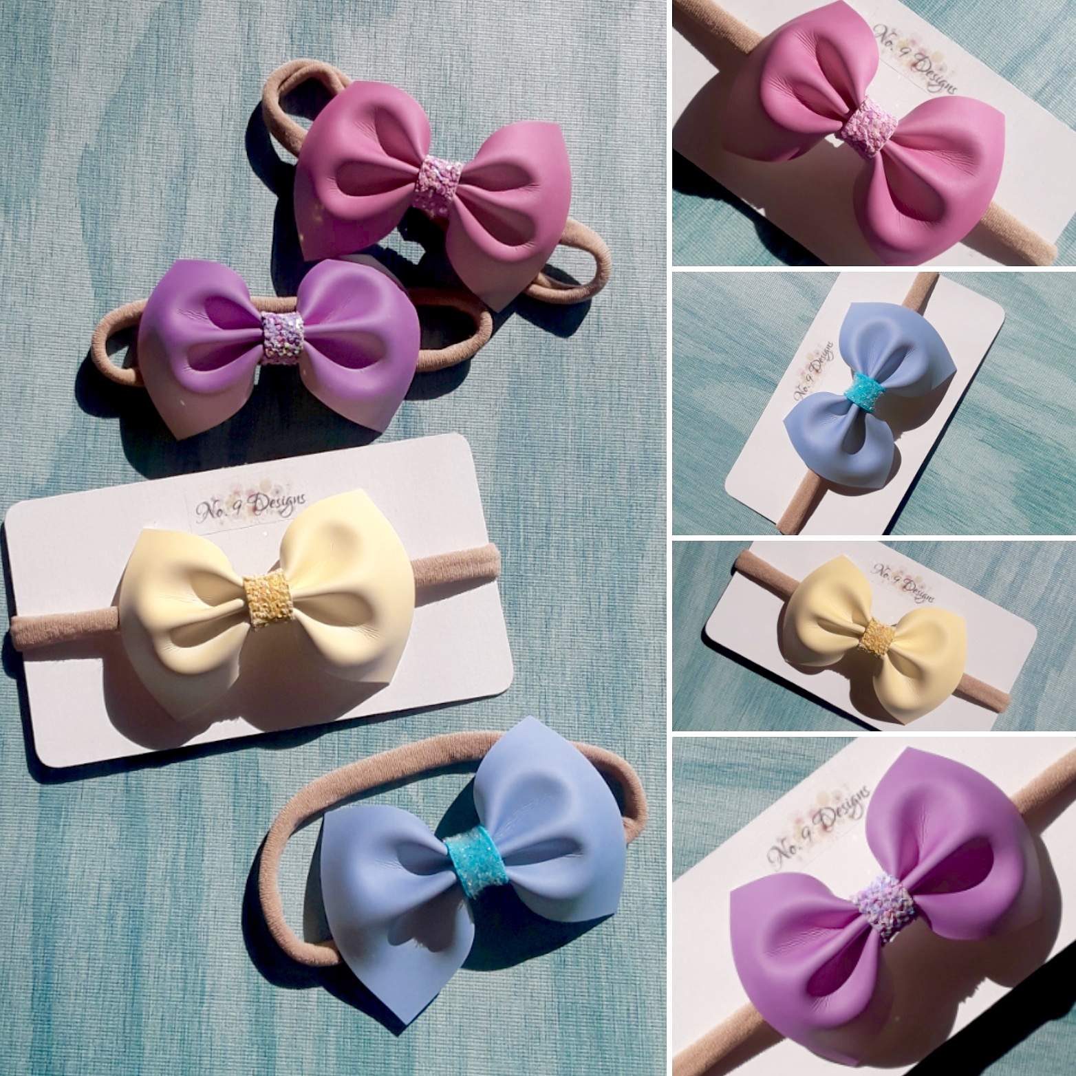 Color Changing Faux Leather Bow Headband
