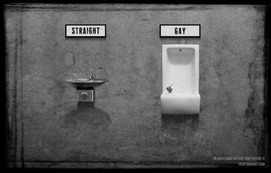 no gays allowed gay straight water fountain.png