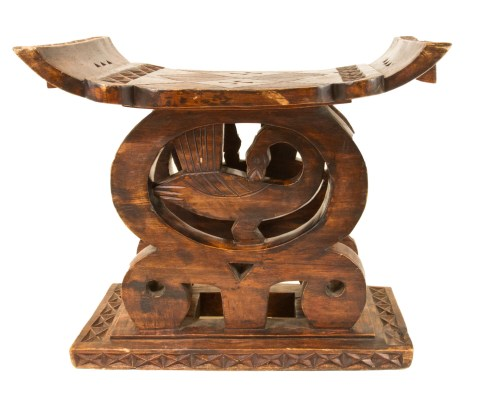 Iconic Utilitarian Table, Ashanti Ancestor Stool