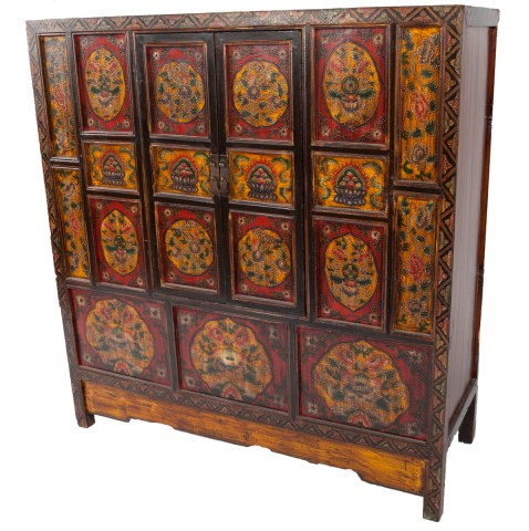 Antique Tibetan Monastery Cabinet | Nagqu, Tibet