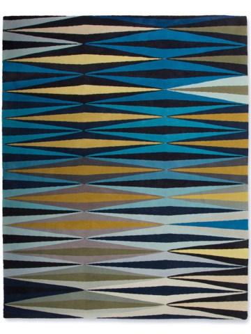 Ripple in blue, 10 ft. x 14 ft.