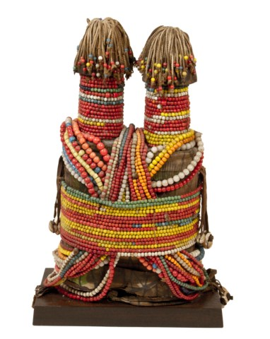 20th Century Beaded Fertility Doll, Fali People, Nigeria - Cameroon, Africa.