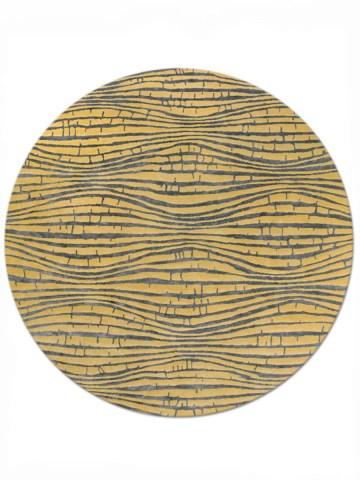 Wave in Yellow, 8 ft. x 8 ft. round