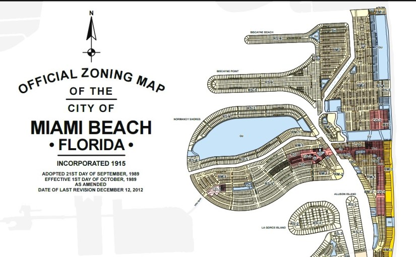 Official Zoning Map of the City of Miami Beach
