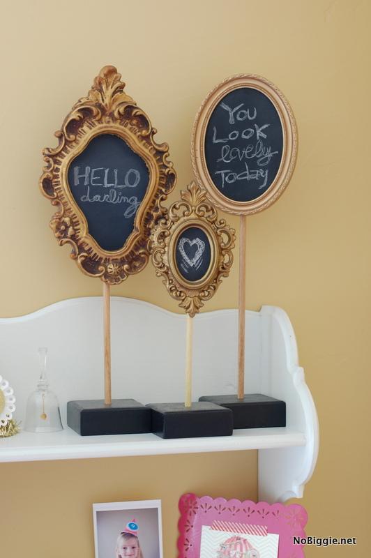 vintage inspired pedestal chalkboards - NoBiggie.net