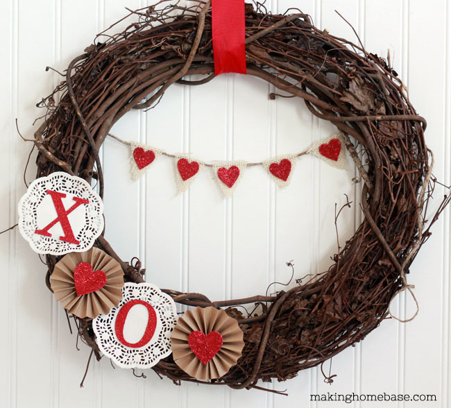 Sweet valentine's day wreath - 25+ Valentine's Day Home Decor Ideas - NoBiggie.net